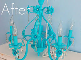com metal flower basket chandelier with painted flowers