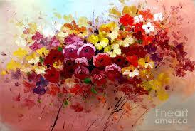 original abstract art oil paintings sunrise flowers abstract oil painting original modern contemporary