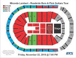 Miranda Lambert Seating Chart Miranda Lambert Infinite Energy Center