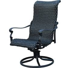 darlee victoria swivel rocker patio dining chair in chairs