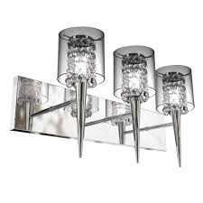 glam lighting. BAZZ Glam Series 3-Light Polished Chrome Wall Fixture With Clear Round Glass And Beads Lighting .