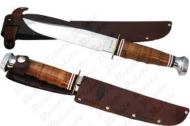 classically styled leather handled hunting knives have been popular since the early 1900s dressy enough for gift giving and practical for field use