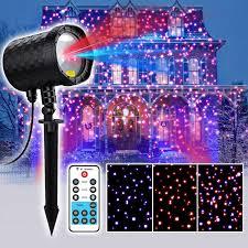 details about landscape garden red blue laser light star projector w remote control