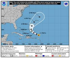 Hurricane Jerry holds steady as Category 2 storm as it approaches ...