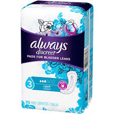Always Discreet Incontinence Pads Light 30 Pads Each