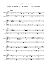 piano sheet music love yourself justin bieber ft ed   piano sheet music love yourself justin bieber ft ed sheeran pdf my favourite sentence from the lyrics is was i a fool to l fr