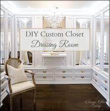 diy closet room. DIY Custom Closet Dressing Room   Crystal Chandelier, Acrylic Mirror Doors Classy Glam Living Diy