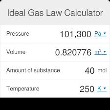 Propane Volume Temperature Correction Chart Ideal Gas Law Calculator Omni