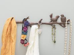 6 Hook Wall Coat Rack Amazon Cast Iron Birds On Branch Hanger With 100 Hooks 72