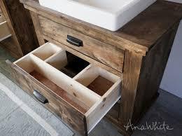 rustic white bathroom vanities. Beautiful Rustic HANDMADE FROM THIS PLAN U003eu003e Intended Rustic White Bathroom Vanities S