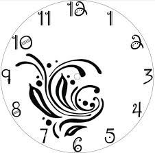 Clock Face Drawing Free Download Best Clock Face Drawing