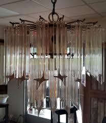 vintage lucite chandelier interiors