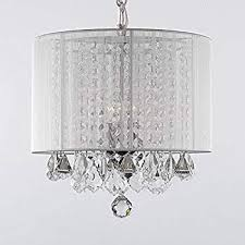 tremendeous plug in chandelier on crystal chandeliers with large black shade h15 x w15