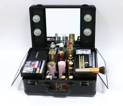 new design whole aluminum small lighted beauty box portable beauty case vanity case with
