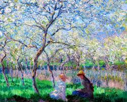 claude monet springtime le printemps oil on canvas x cm fitzwilliam museum university of cambridge uk