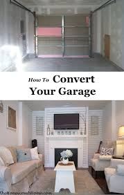 garage makeover convert 2 car garage into living space home decoration ideas