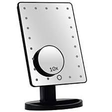 desktop mirror. Simple Desktop LED Lighted Vanitymakeup Desktop Mirror Black Intended E