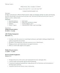 Sales Summary Resume Resume Summary Examples For College Students Medical Device Sales
