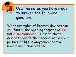 To Kill A Mockingbird Literary Terms Chart Key Teacher Of English Com To Kill A Mockingbird Key Characters