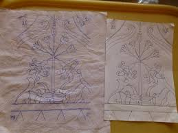 How To Draw Batik Designs Batik Printing A Wall Hanging 11 Steps With Pictures