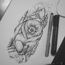 Pin by April Charnley on Тату   Bear tattoo designs, Bear tattoos, Full  sleeve tattoos