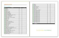Wedding Planning Checklist | Detailed Checklists Blank Checkists ...