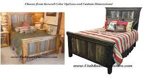 Rugged Canyon Barnwood Custom Bed Set