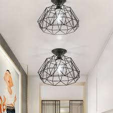 black geometric ceiling light fixture