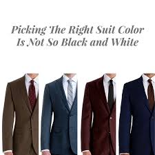 Suit Colors What To Pick To Match Your Wardrobe Black Lapel