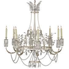swedish crystal chandelier silver leaf