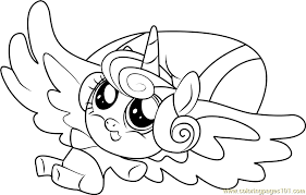 Small Picture Flurry Heart Coloring Page Free My Little Pony Friendship Is