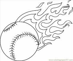 Small Picture A Baseball With Flames Step 4 Coloring Page Free Baseball