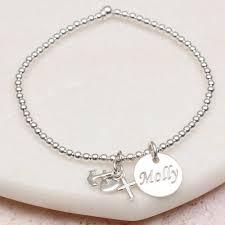 original personalised silver faith hope and charity bracelet tinyballbraceleton packagingmainpackaging