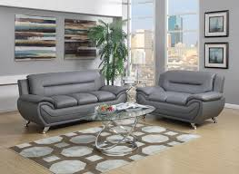 Top Grain Leather Living Room Set Living Room Excellent Light Grey Top Grain Leather Sofa Set 4450