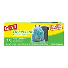 Amazon Com Hefty Recycling Trash Bags Clear Drawstring 30