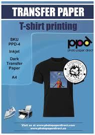 ppd a4 dark inkjet t shirt transfer paper