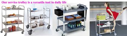 office trolley cart. Stainless Steel Kitchen Dining Trolley Serving Utility Cart Office C