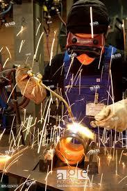 Pipeline Welding Apprentice Apprentice Using Gas Welding Or Oxy Fuel Welding On A Pipe In The