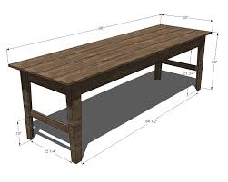 wooden outdoor table plans. Ana White | Build A Narrow Farmhouse Table Free And Easy DIY Project Furniture Plans Wooden Outdoor