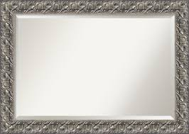 wall mirror extra large silver luxor