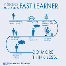 7 Ways To Know That You Are A Fast Learner Chart Bit Rebels