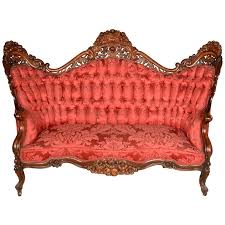 American Belter Victorian Settee by John Henry Belter For Sale at