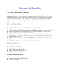 Sample Resume For Food Production Line Worker Inspirationa