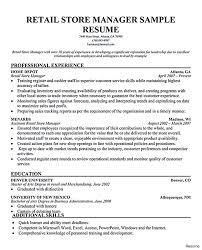 Retail Resume Summary Lovely Retaile Manager Resume Resumes