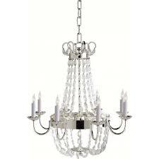 paris flea market medium chandelier polished silver and seeded glass ceiling lights lighting