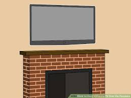 image titled hang a plasma tv over the fireplace final