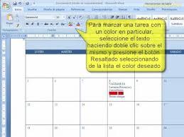 formato cronograma de actividades mensual word generar un calendario de tareas youtube