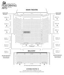 Seating Chart Floor Plan Burlington Performing Arts Centre