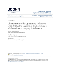 Pdf Characteristics Of The Questioning Techniques Used By