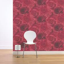 Red Wallpaper For Bedroom Girls Chic Wallpaper Kids Bedroom Feature Wall Decor Various
